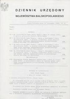 Dziennik Urzędowy Województwa Bialskopodlaskiego R. 22 (1996) nr 12