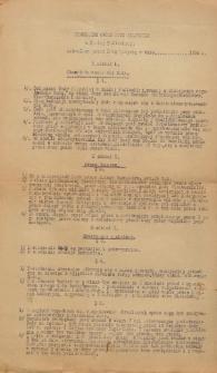 Regulamin obrad Rady Miejskiej w Białej Podlaskiej uchwalony przez Radę Miejska w dniu.... 1934 r.