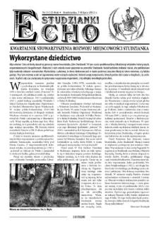 Echo Studzianki : kwartalnik Stowarzyszenia Rozwoju Miejscowości Studzianka R. 4 (2012) nr 2 (12)