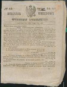 Dziennik Urzędowy Gubernii Lubelskiej 1847 nr 15