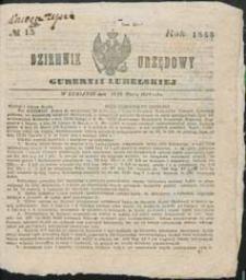 Dziennik Urzędowy Gubernii Lubelskiej 1853 nr 13