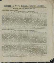 Dziennik Urzędowy Gubernii Lubelskiej 1848 nr 77 (dodatek)