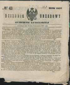 Dziennik Urzędowy Gubernii Lubelskiej 1857 nr 43