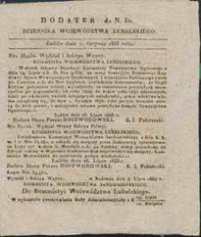 Dziennik Urzędowy Województwa Lubelskiego 1833 nr 32 (dodatek)