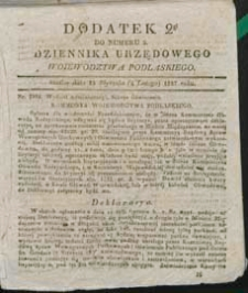 Dziennik Urzędowy Województwa Podlaskiego 1837 (dodatek 2)