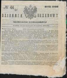 Dziennik Urzędowy Gubernii Lubelskiej 1860 nr 44