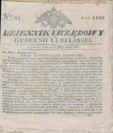 Dziennik Urzędowy Gubernii Lubelskiej 1840 nr 21