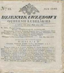 Dziennik Urzędowy Gubernii Lubelskiej 1840 nr 22