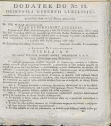 Dziennik Urzędowy Gubernii Lubelskiej 1840 nr 13 (dodatek)