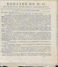 Dziennik Urzędowy Gubernii Lubelskiej 1840 r 25 (dodatek)