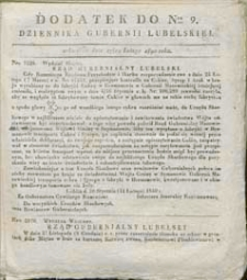 Dziennik Urzędowy Gubernii Lubelskiej 1840 nr 9 (dodatek)
