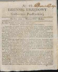 Dziennik Urzędowy Gubernii Podlaskiej 1837 nr 12