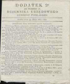 Dziennik Urzędowy Gubernii Podlaskiej 1837 nr 19 (dodatek 2)