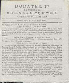 Dziennik Urzędowy Gubernii Podlaskiej 1837 nr 20 (dodatek 1)