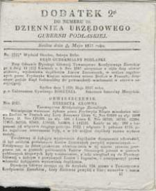 Dziennik Urzędowy Gubernii Podlaskiej 1837 nr 20 (dodatek 2)