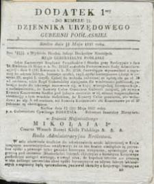 Dziennik Urzędowy Gubernii Podlaskiej 1837 nr 21 (dodatek 1)