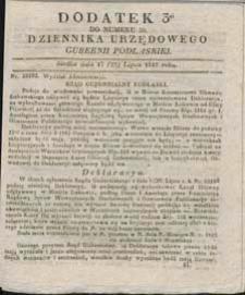 Dziennik Urzędowy Gubernii Podlaskiej 1837 nr 30 (dodatek 3)
