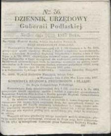 Dziennik Urzędowy Gubernii Podlaskiej 1837 nr 36