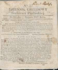 Dziennik Urzędowy Gubernii Podlaskiej 1837 nr 37