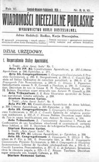 Wiadomości Diecezjalne Podlaskie R. 6 (1924) nr 8-10
