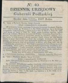 Dziennik Urzędowy Gubernii Podlaskiej 1837 nr 40