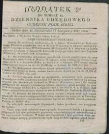Dziennik Urzędowy Gubernii Podlaskiej 1837 nr 44 (dodatek 4)