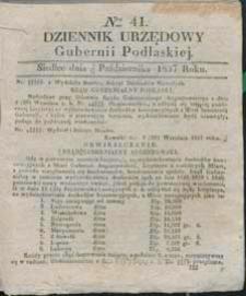 Dziennik Urzędowy Gubernii Podlaskiej 1837 nr 41