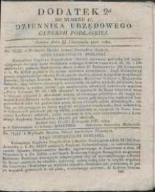 Dziennik Urzędowy Gubernii Podlaskiej 1837 nr 47 (dodatek 2)