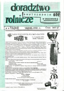 Doradztwo Rolnicze R. 3 (1992) nr 15 (40)