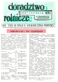 Doradztwo Rolnicze R. 4 (1993) nr 2 (51)