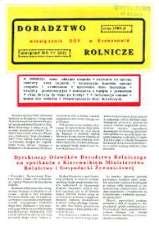 Doradztwo Rolnicze R. 4 (1993) nr 11 (60)