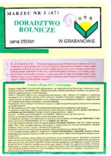 Doradztwo Rolnicze R. 5 (1994) nr 3 (67)
