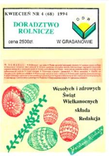 Doradztwo Rolnicze R. 5 (1994) nr 4 (68)