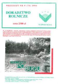 Doradztwo Rolnicze R. 5 (1994) nr 9 (73)