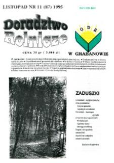 Doradztwo Rolnicze R. 6 (1995) nr 11 (87)