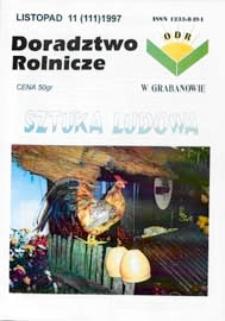 Doradztwo Rolnicze R. 8 (1997) nr 11 (111)