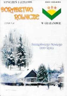 Doradztwo Rolnicze R. 10 (1999) nr 1 (125)