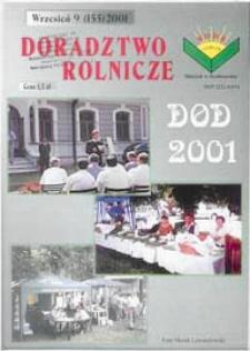 Doradztwo Rolnicze R. 12 (2001) nr 9 (155)