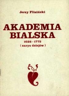 Akademia Bialska 1628-1773 : (zarys dziejów)