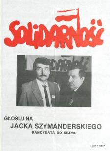 Plakat wyborczy kandydata na posła Jacka Szymanderskiego