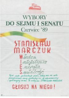 Plakat wyborczy kandydata na posła Stanisława Marczuka