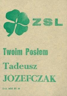 Ulotka wyborcza kandydata na posła Tadeusza Józefczaka