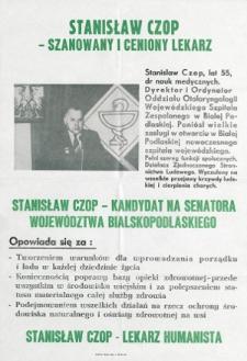 Plakat wyborczy kandydata na senatora Stanisława Czopa