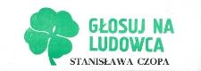 Ulotka wyborcza kandydata na senatora Stanisława Czopa
