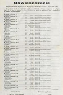 Obwieszczenie Miejskiej Komisji Wyborczej w Międzyrzecu Podlaskim z dn. 2 maja 1990 o kandydatach na radnych do rady miejskiej