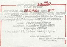 """Zaproszenie Komitetu Obywatelskiego """"Solidarność"""" w Białej Podlaskiej na spotkanie przedwyborcze"""
