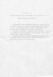 Stanowisko Bialskopodlaskiego Sejmiku Samorządowego z dnia 15 października 1991 r. w sprawie wyborów parlamentarnych