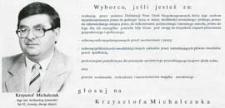 Ulotka wyborcza kandydata na posła z listy nr 8 Stronnictwa Demokratycznego w okręgu siedlecko-bialskopodlaskim - Krzysztofa Michalczuka