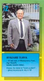 Ulotka wyborcza kandydata na posła Komitetu Wyborczego Porozumienie Obywatelskie Centrum w okręgu siedlecko-bialskopodlaskim - Ryszarda Turyka