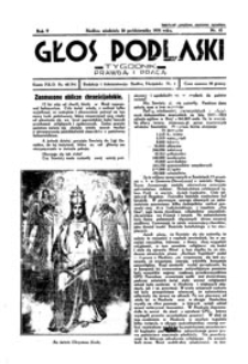 Głos Podlaski : tygodnik prawdą i pracą R. 5 (1934) nr 43